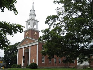 Lebanon, Connecticut - The First Congregational Church on the Green, site of the first town council and featured on the town seal