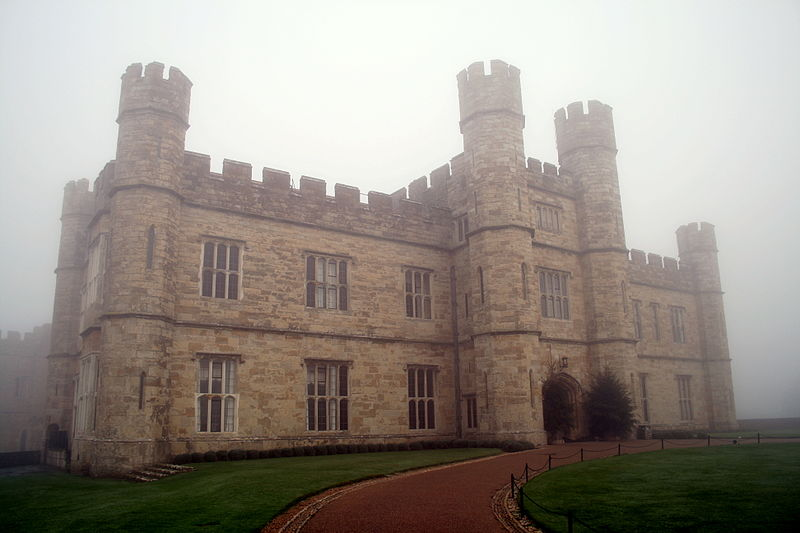 Leeds Castle in the mist. One of the 9 best places in the world to celebrate love
