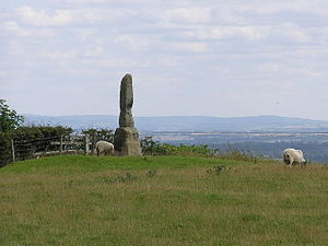 Bolam, County Durham - Legs Cross on Dere Street overlooks Bolam