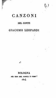 Leopardi - Canzoni, Nobili, Bologna 1824.djvu