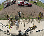 Less water, more pressure yields savings and safer firefighting 130425-F-QX786-151.jpg
