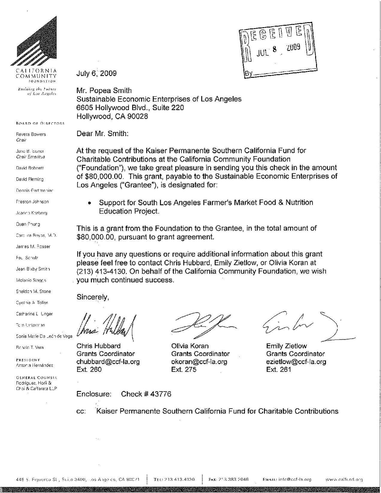 FileLetter Of Agreement Grant California Community