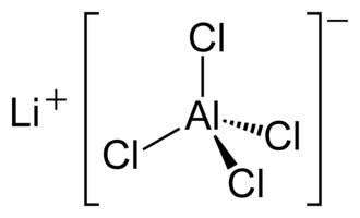 Lithium tetrachloroaluminate - Image: Li Al Cl 4 2D
