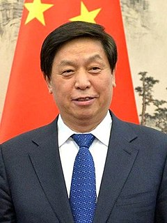 Li Zhanshu Member of the Politburo Standing Committee of the Communist Party of China