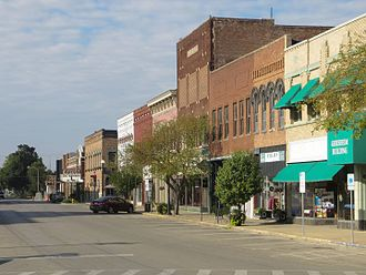 Lincoln, Illinois - Kickapoo Street in Lincoln