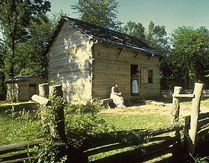 Little Pigeon Creek Community - Replica of Lincoln's Boyhood Home in Little Pigeon Creek Community.