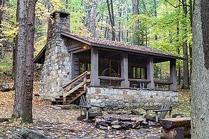 Linn Run State Park - Image: Linn Run State Park Family Cabin District Cabin 9