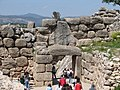 Lions gate cyclopean walls, at Mycenae, back.jpg