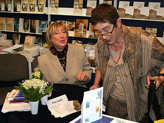 2006 in poetry - Ewa Lipska (left) at the International Book Fair in Warsaw this year