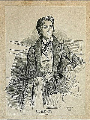 Life of Franz Liszt - Liszt, in a lithograph by Achille Devéria, 1832