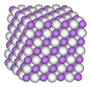 Ionic lattice structure of lithium hydride