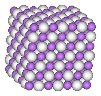 Lithium hydride - Image: Lithium hydride 3D vd W