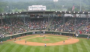 Little League World Series - A Little League World Series Game at Howard J. Lamade Stadium in South Williamsport, Pennsylvania, USA.