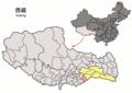 Location of Nang within Xizang (China).png