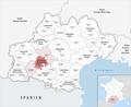 Locator map of Arrondissement Muret 2019.png