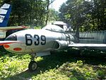 Lockheed T-33 Shooting Star trainer at Kawaguchiko Motor Museum.jpg