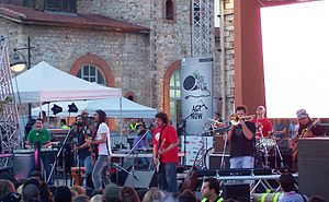 Greek ska band Locomondo performing live on Wo...