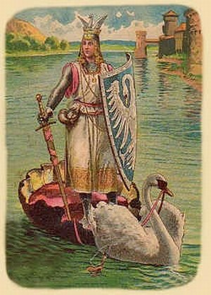 Knight of the Swan - Lohengrin postcard around 1900 by unknown artist
