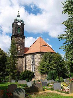 Church in Lohmen (Landkreis Sächsische Schweiz), Germany