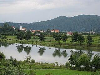Loka pri Zidanem Mostu village in Styria, Slovenia