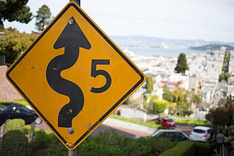 Lombard Street (San Francisco) - Image: Lombard Street (San Francisco) Sign Photowalkabout March 23 2013 8673