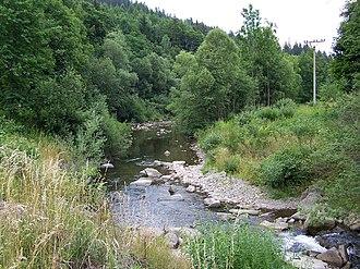 Lomná (river) - Lomná in Dolní Lomná