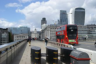 2017 London Bridge attack - Bollards installed on London Bridge to prevent future attacks