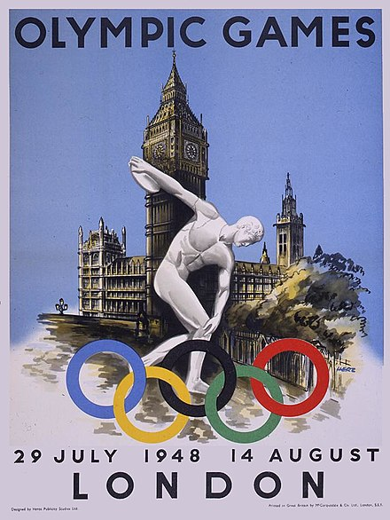 Poster promoting the 1948 Olympics London Olympics.jpg
