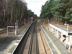 Longcross railway station - Image: Longcross Railway Station