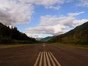 Stewart Aerodrome - Image: Looking North on the Stewart Runway (1253920253)