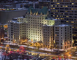 Lord Elgin Hotel - View of Lord Elgin Hotel from above the Confederation Park