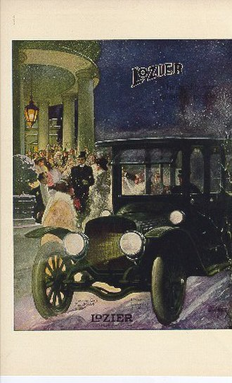 Lozier - Image from a 1912 advertisement for a Lozier touring car priced at $5,000.