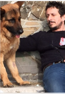 Luca e il suo cane Smog