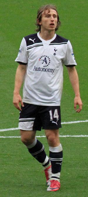 Luka Modrić - Modrić playing for Tottenham in 2010.