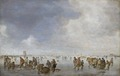 Målning. Vinterliv på isen. Jan van Goyen - Hallwylska museet - 86724.tif