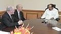 M. Veerappa Moily meeting the Minister of Economic Development, New Brunswick, Canada, Mr. Bruce Fitch and the Minister of Energy and Mines, New Brunswick, Canada, Mr. Craig Leonard, in New Delhi on December 06, 2013.jpg