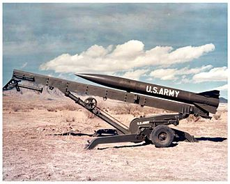 Tactical nuclear weapon - American MGR-3 Little John missile, measuring 4.4. meters long with a diameter of 32 cm and a weight of 350 kg. Capable of firing a W45 warhead (10 kiloton yield) a distance of 19 km