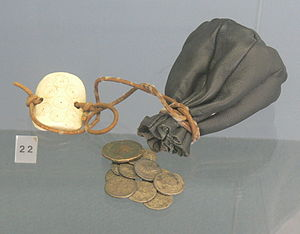 Coin purse - Model of an ancient Roman leather purse