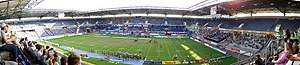 MSV-Arena - Panorama of the stadium during the final match of the American football competition of the World Games 2005