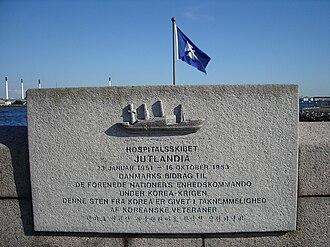 MS Jutlandia - MS Jutlandia memorial stone at Langelinie.