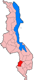 Location of Mwanza District in Malawi