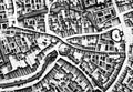 Maastricht, omgeving Klein en Lang Grachtje, detail kaart Larcher d'Aubencourt, 1749.jpg
