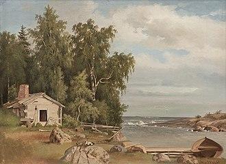 Magnus von Wright - Image: Magnus von Wright Strandlandskap från Lövö