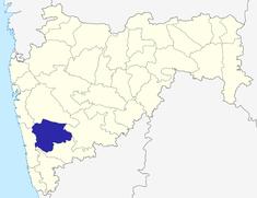 మహారాష్ట్రలో సతారా జిల్లా యొక్క స్థానం
