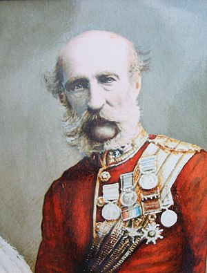 Royal Artillery - General George Campbell of Inverneill CB, commander of the Royal Artillery from 1874.