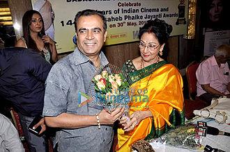 Mala Sinha - Mala Sinha in 2012 at the press conference of 'Dadsaheb Phalke Jayanti Awards'