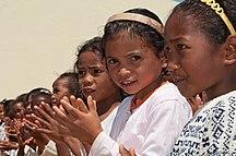 Madagascar-Early period-Malagasy girls Madagascar Merina