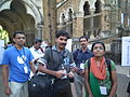 Malayalam wikipedians in wci2011 9136.JPG