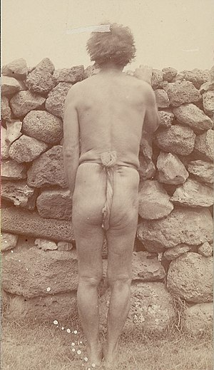 Angata - Pakomīo in traditional loincloth, December 1886