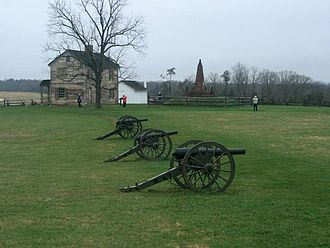 Charles Griffin - Griffin's battery at Bull Run battlefield.